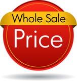 Gehele verkoopprijs stock illustratie