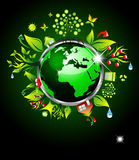 Gehen Ökologie-Hintergrund grüner vektor abbildung