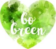 Gehen abstraktes Herz grünes Stockbild