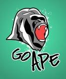 Gehen Affe: K?hler Gorilla Icon stock abbildung