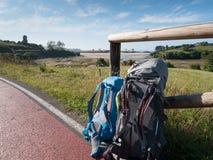 Gehen auf Camino De Santiago stockbild