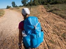 Gehen auf Camino De Santiago lizenzfreie stockfotos