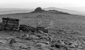 Gehen auf Dartmoor stockfoto