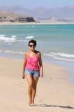 Gehen auf den Strand Stockbilder