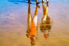 Gehen auf den Strand Stockbild