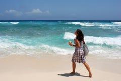 Gehen auf einen Strand Stockbild