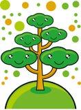 Gehen Baum grüner stock abbildung