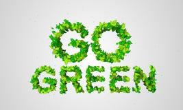 Gehen Blatt-Partikel 3D grüne lizenzfreie abbildung