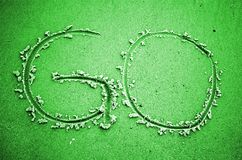 GEHEN das gefärbte Grün Lizenzfreie Stockbilder