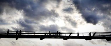 Gehen in den Himmel stockfoto