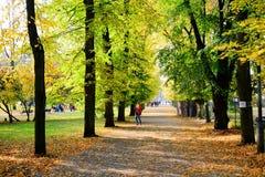 Gehen in den Park des Kathedralenquadrats in Vilnius-Stadt Stockbild