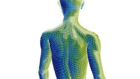 Gehen der cyborg-bionisches Frauen-3D stock abbildung