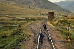 Gehen die Eisenbahn Stockbild