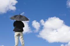 Gehen durch Wolken Stockfotos