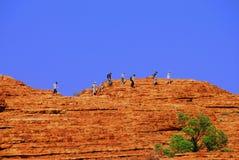 Gehen ein ridgeline im Hinterland. Stockbilder
