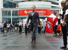 Gehen eine Meile in ihren Schuhen, Toronto Stockfotos