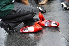Gehen eine Meile in ihren Schuhen, Toronto Lizenzfreies Stockfoto