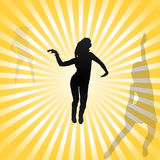 Gehen-gehen Tänzerinvektor Stockfoto