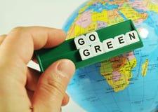 Gehen Grün! Stockbild