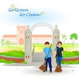 Gehen Grün gehen sauber Lizenzfreie Stockbilder