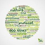 Gehen Grün. Wörter über Umwelterhaltung Lizenzfreie Stockfotos