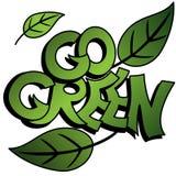 Gehen Graffiti grüne Lizenzfreie Stockfotografie