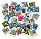 Gehen Griechenland - Hintergrund mit Reisenfotos Stockbilder