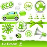 Gehen-grünes Set Stockbilder