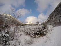 Gehen herauf den Hügel stockfoto
