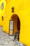 Gehen in historische Stadt Sighisoara am 17. Juli 2014 Lizenzfreies Stockbild
