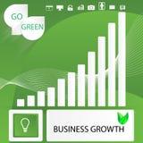 Gehen infographic Elemente Geschäftszusammenfassung der grünen Lizenzfreie Stockbilder