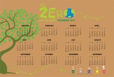 Gehen Kalender 2017 null Lizenzfreie Stockfotos