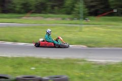 Gehen kart Rennen Lizenzfreie Stockbilder
