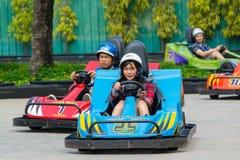 Gehen-kart Rennen in der Traumwelt, Thailand Lizenzfreies Stockbild