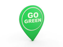 Gehen Konzept-Ikone - Bild der Wiedergabe-3D grüne Lizenzfreies Stockfoto