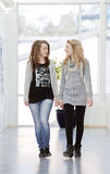 Gehen mit zwei Mädchen Stockfotos