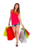 Gehen nach dem Einkauf Lizenzfreies Stockfoto