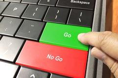 Gehen oder Ausschuss- Entscheidung Lizenzfreies Stockfoto