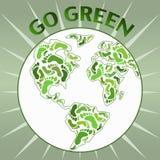Gehen Planet grüner Stockbild