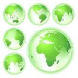 Gehen Planetenerdekarten grüne Stockbilder