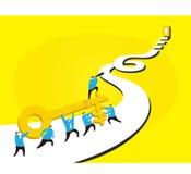 Gehen in Richtung zum Erfolg Lizenzfreies Stockfoto