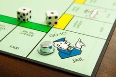 Gehen Sie ins Gefängnis Lizenzfreies Stockbild