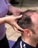 Gehen Sie Massage voran Stockbild