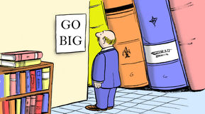 Gehen Sie mit dem Geschäftsverkaufsplan groß Stockbild