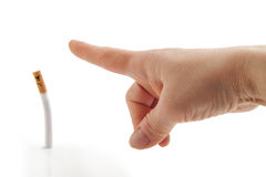 Gehen Sie weg! Antirauchenmetapher Lizenzfreies Stockbild
