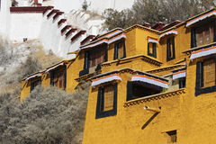 Gehen Sie zu Potala-Palast Lizenzfreies Stockfoto