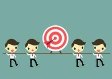 Gehen Sie zum Ziel mit Teamwork Lizenzfreies Stockfoto