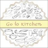 Gehen Sie zur Küche Stockfotos