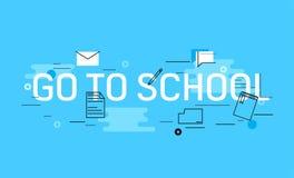 Gehen Sie zur Schulfahne Lizenzfreies Stockbild