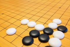Gehen Spiel oder chinesisches Brettspiel Weiqi Stockfoto